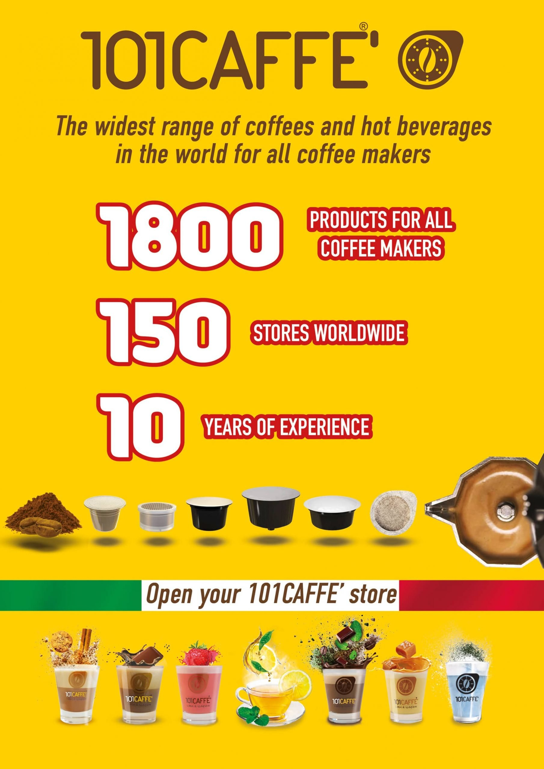The widest range of coffee and beverages in the world for all coffee makers