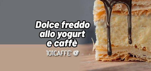 Cold yogurt and coffee dessert