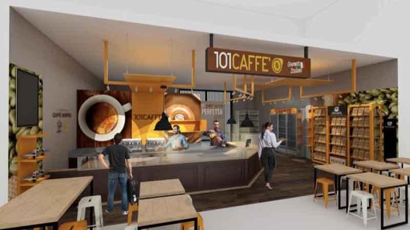 Coffee shop plus shop