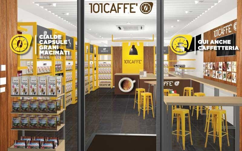 Commerce alimentaire plus café à emporter