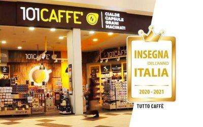 """CS – INSEGNA DELL'ANNO ITALIA 2020-2021:  VINCE 101CAFFE' NELLA CATEGORIA """" TUTTO CAFFE' """""""